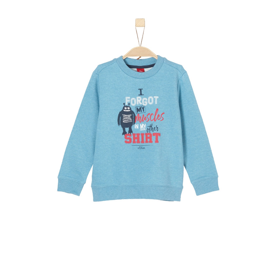 s.Oliver Boys Sweatshirt blue green melange