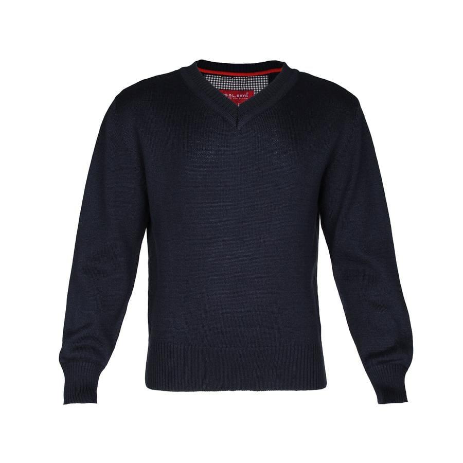 G.O.L Boys - pull tricoté avec col en V marine