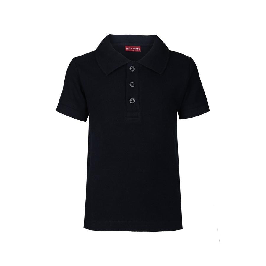 G.O.L. 1/2-Arm-Pique-Poloshirt Regularfit diepgeworteld