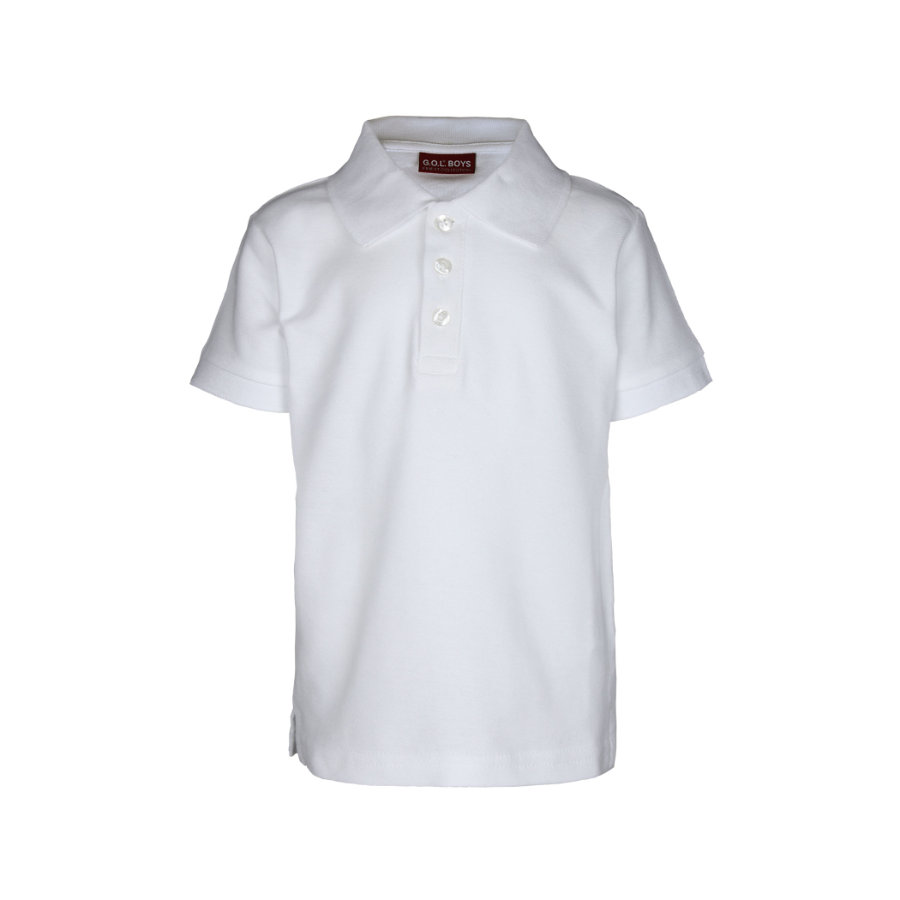 G.O.L. 1/2-Arm-Pique-Poloshirt Regularfit wit