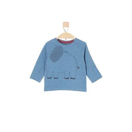 s.Oliver Boys Shirt met lange mouwen blauw melange