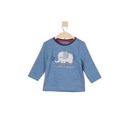 s.Oliver T-shirt manches longues enfant coton bleu