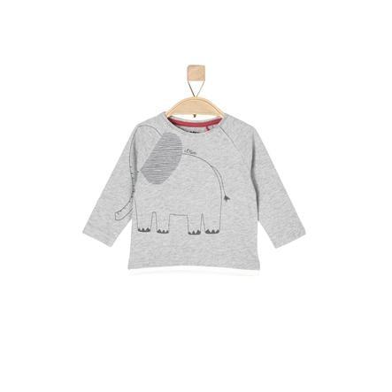 s.Oliver Boys Camicia manica lunga grigio chiaro melange grigio chiaro