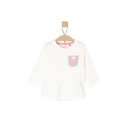 s.Oliver Girl chemise manches longues écrues
