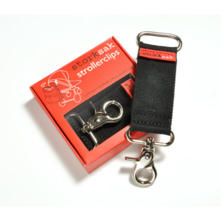 storksak Clips per passeggino Black/Silver