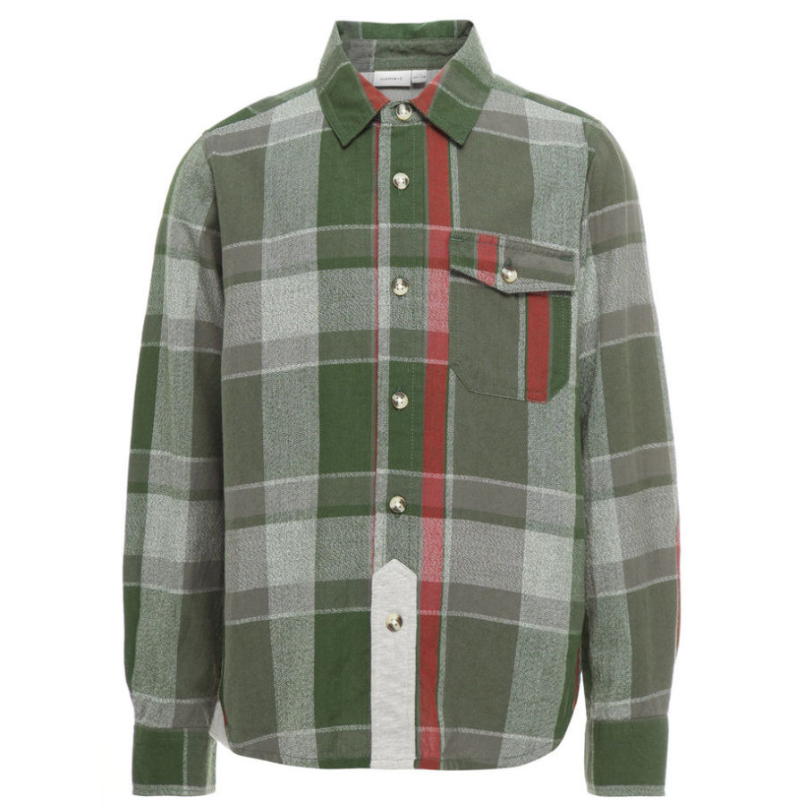 name it Boys Shirt Kimbo kombu groen