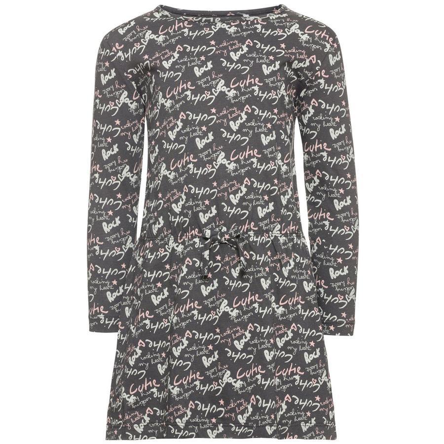 name it Girl s robe velours asphalte