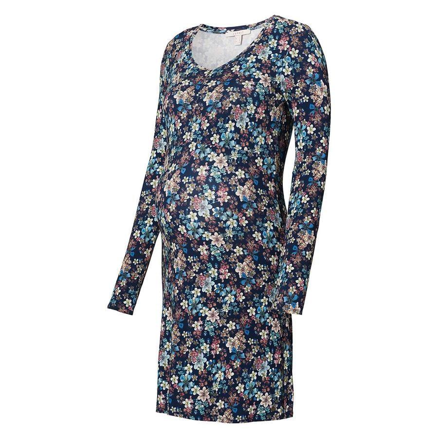 ESPRIT ošetřovatelské šaty s květinami Night Modrá