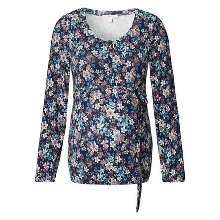 ESPRIT Verpleegster Shirt Bloemen Nachtblauw