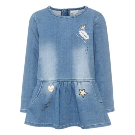name it Girls Kleid Arona light blue denim
