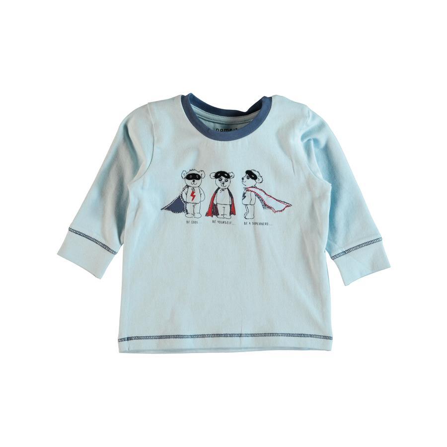 name it Chlapecké tričko s dlouhým rukávem Gethan corydalis modré