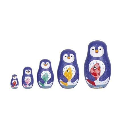 Janod® Familia de pingüinos Matryoshka