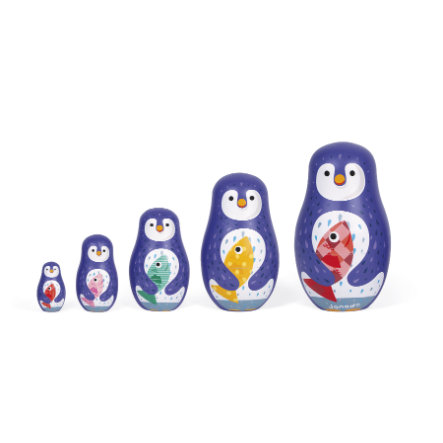 Janod® Zigolos Famiglia di pinguini Matroschka