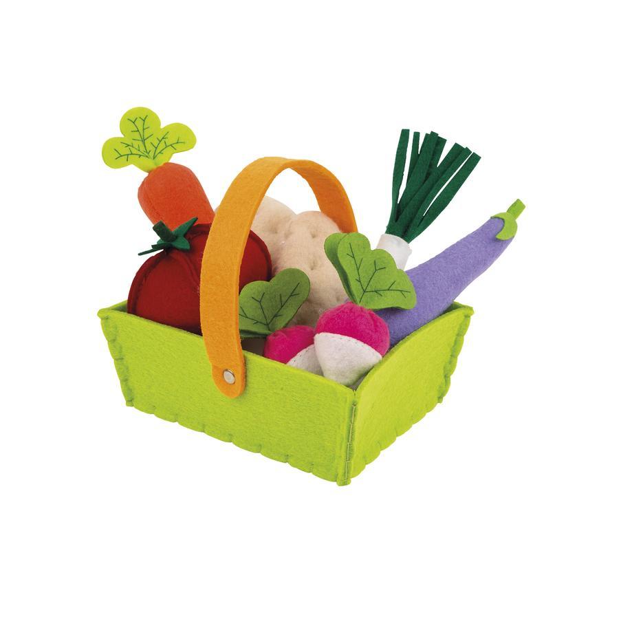 Janod® Cesta de verduras de fieltro