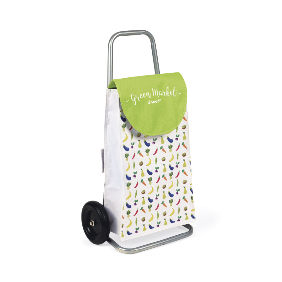 Janod® Kundvagn Green Market med plånbok