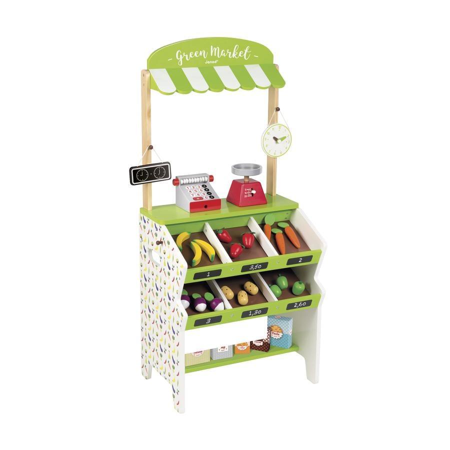 janod® kaufmannsladen green market mit zubehör - baby-markt.at