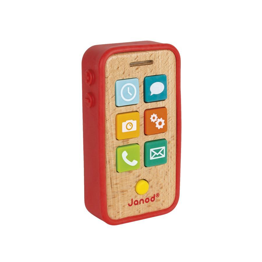 Janod® Dřevěný Smartphone s funkcemi