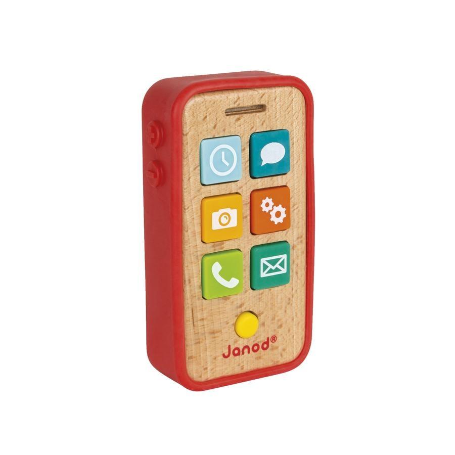 Janod® smarttelefon av tre med funksjoner