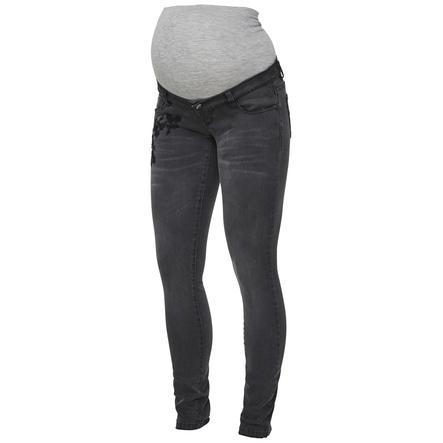 Mama Licious Jeans MLLETICIA Medium Grey