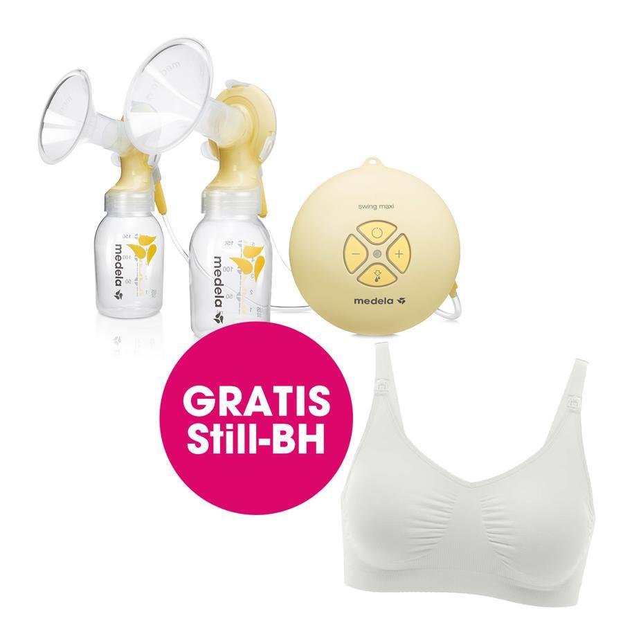 medela Bröstpump Swing Maxi plus gratis Gravid- och amningsbehå, i storlek XL