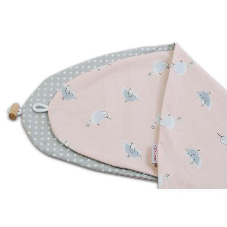 HOBEA-Germany Cover cuscino per l'allattamento Pois/Uccellini