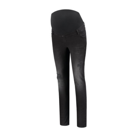 LOVE2WAIT Umstandsjeans Sophia Destroyed Charcoal