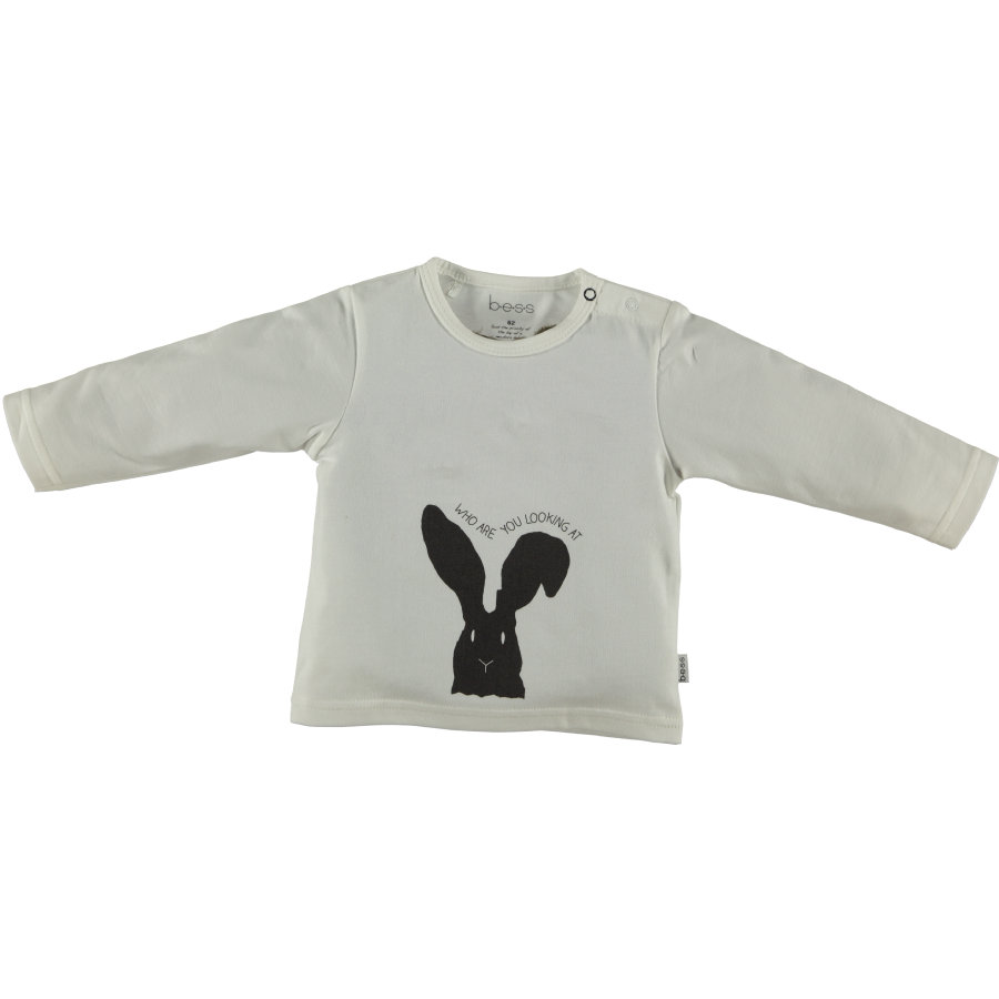 b.e.s.s Langarmshirt Rabbit White