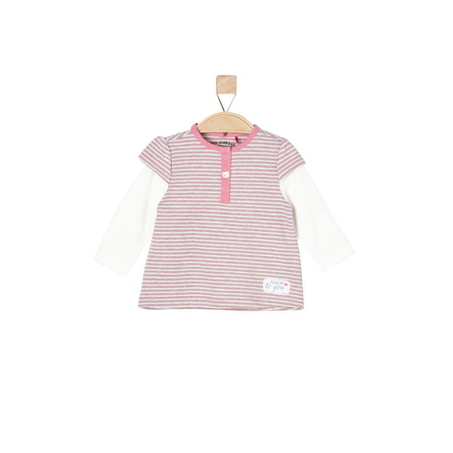 s.Oliver Girl koszulka z długim rękawem różowe paski