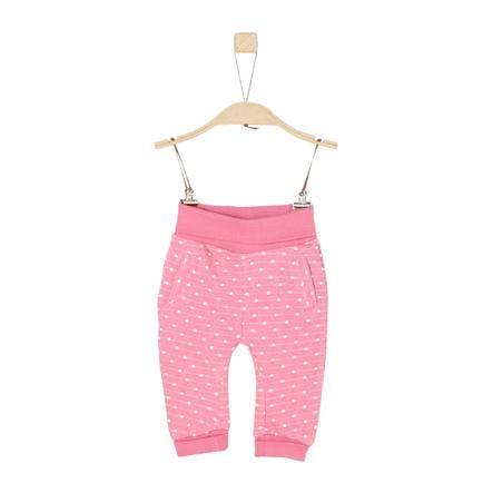 s.Oliver  Flickor joggingbyxor rosa stickad