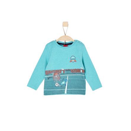 s.Oliver Boys Langarmshirt turquoise melange