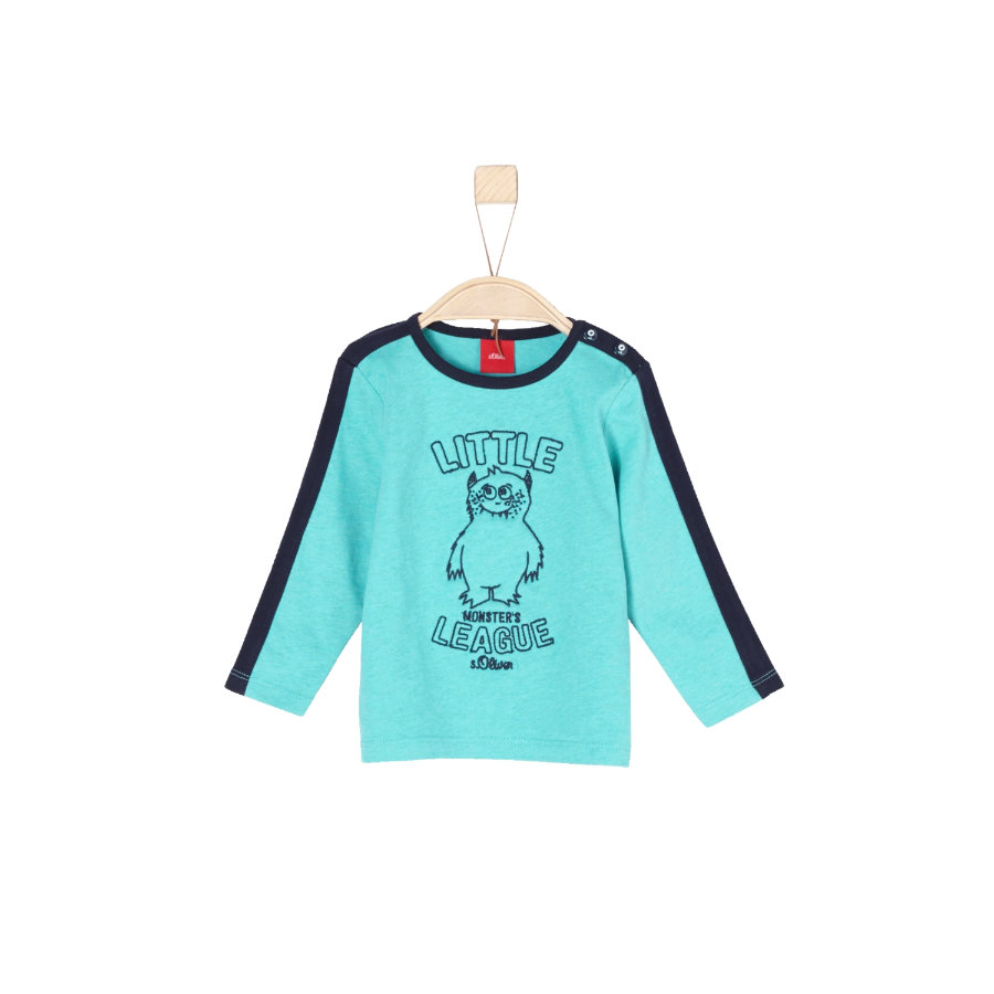 s.Oliver Boys Overhemd met lange mouwen turquoise melange
