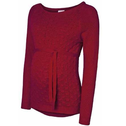 mama licious Gebreid overhemd MLCRYSTA Jester Red MLCRYSTA Gebreid hemd