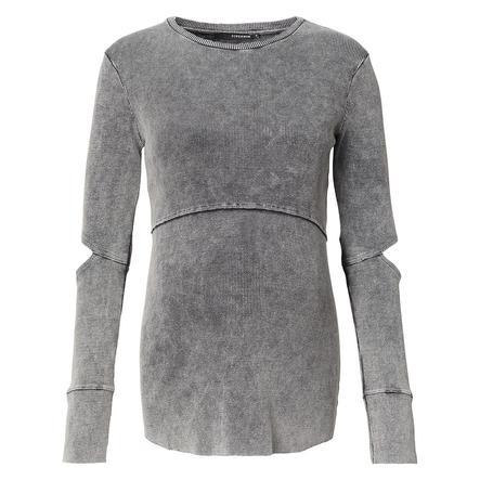 SUPERMOM Langarmshirt Washed Grey