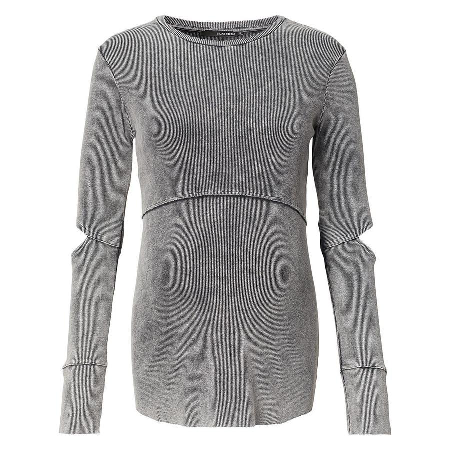SUPERMOM Overhemd met lange mouwen gewassen grijs