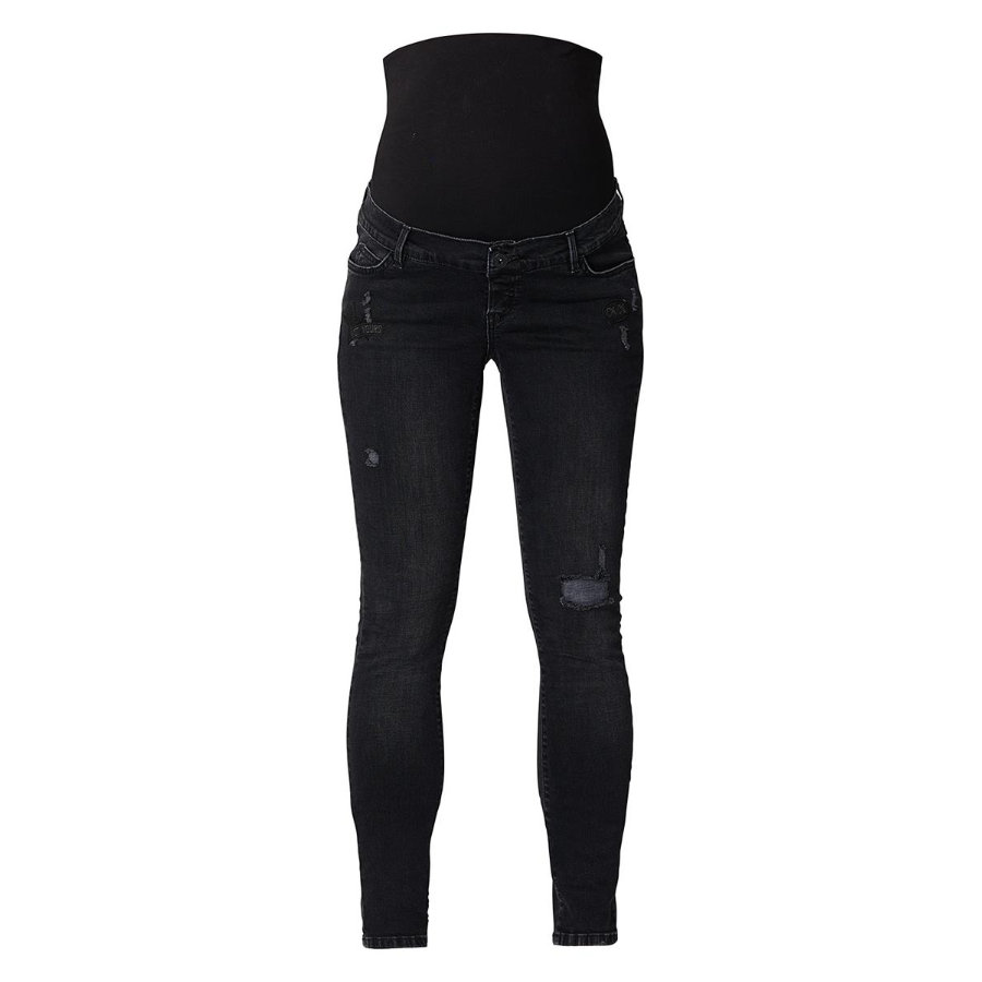 SUPERMOM Maternidad Jeans OTB Negro Denim Longitud: 32