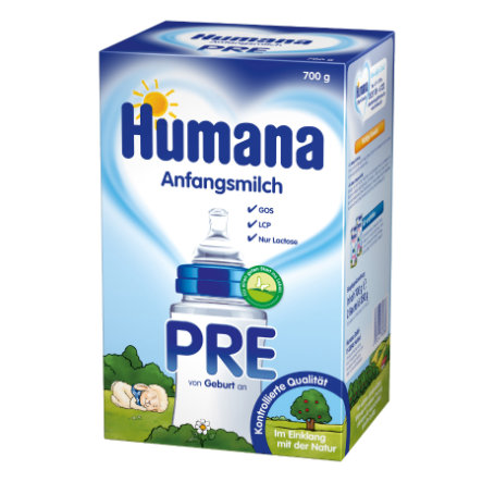 Humana Anfangsmilch PRE mit LCP & GOS (700 g)