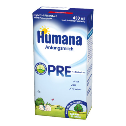 Humana Anfangsmilch PRE LCP+GOS flüssig 450 ml
