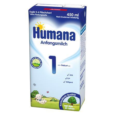 Humana Anfangsmilch 1 LCP+GOS flüssig 450 ml