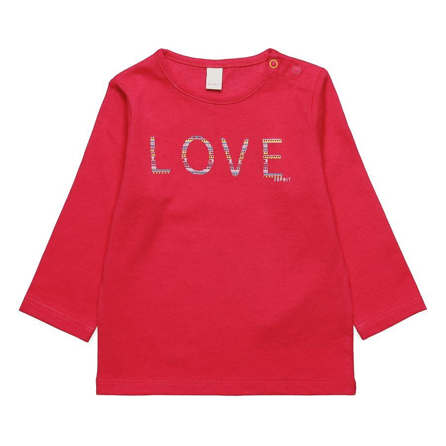 ESPRIT Girl s Camisa de manga larga de frambuesa