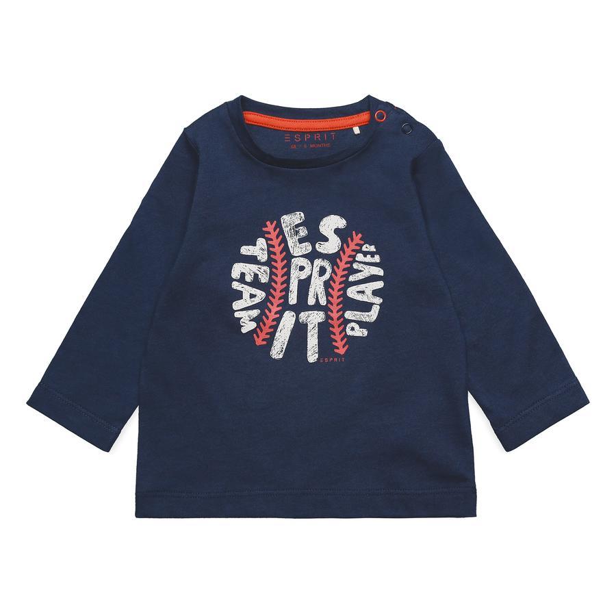 ESPRIT Boys Shirt met lange mouwen diepe indigo