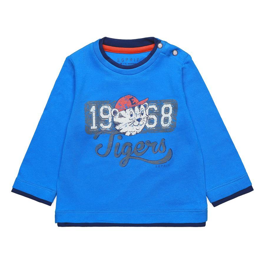 ESPRIT Boys Camisa manga larga azul azur