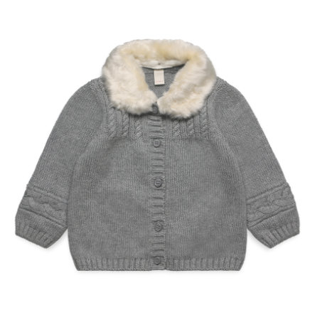 ESPRIT Baby Girls Strickjacke mid heather grey
