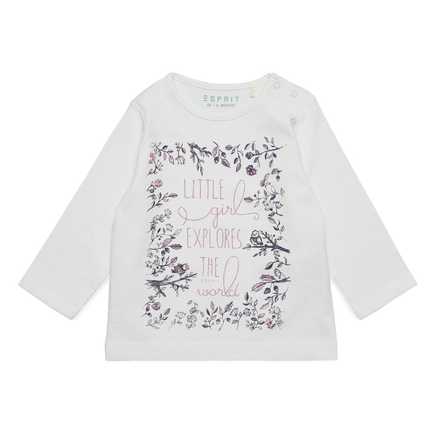 ESPRIT Baby Girls Langarmshirt off white
