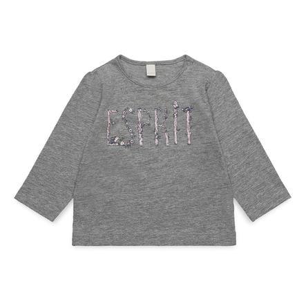 ESPRIT Girl s shirt met lange mouwen midden heide grijs