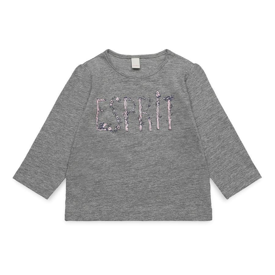 ESPRIT Girl s camisa manga larga gris medio brezo