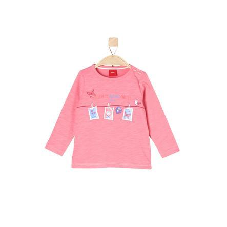 s.Oliver Girl s koszula z długim rękawem różowa