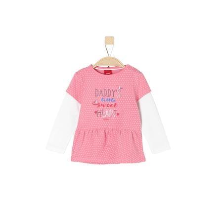s.Oliver Girl s chemise à manches longues violet/rose