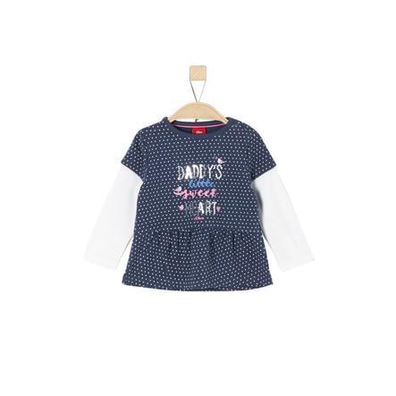 s.Oliver Girl chemise à manches longues bleu nuit