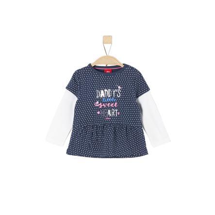 s.Oliver Girl s shirt met lange mouwen middernachtelijk blauw