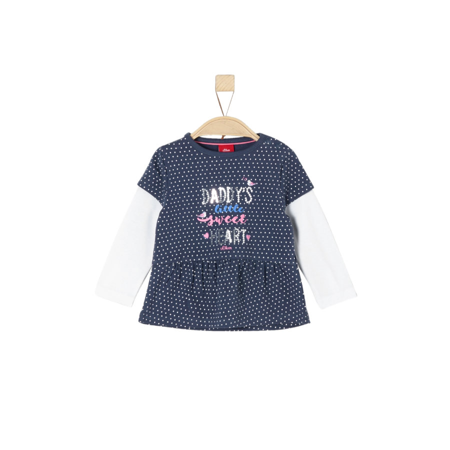 s.Oliver Girl s camisa de manga larga midnightblue